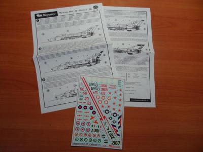"""BEGDEC 72-018 1/72 Микоян МиГ-21 """"Fishbed"""" часть 1"""
