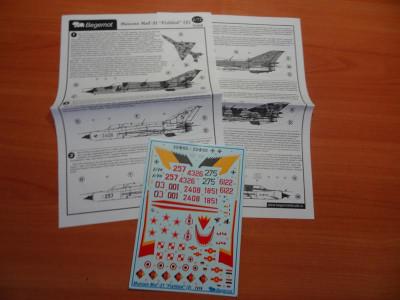 """BEGDEC 72-019 1/72 Микоян МиГ-21 """"Fishbed"""" часть 2"""
