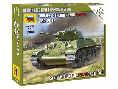 6101 Zvezda 1/100 Советский средний танк Т-34/76 (обр. 1940)