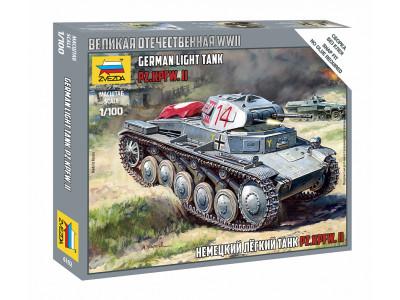 6102 Zvezda 1/100 Немецкий лёгкий танк Pz.Kpfw II
