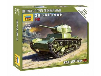 6113 Zvezda 1/100 Советский легкий танк Т-26