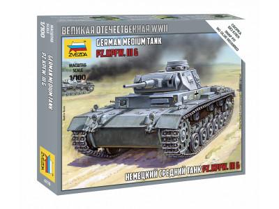 6119 Zvezda 1/100 Немецкий средний танк Pz.Kp.fw III G