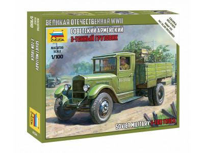 6124 Zvezda 1/100 Советский армейский 3-тонный грузовик