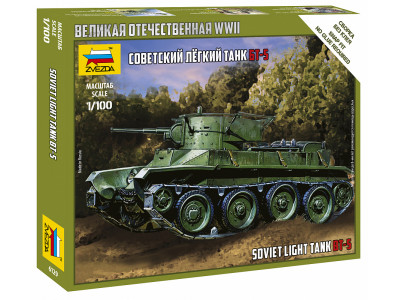 6129 Zvezda 1/100 Советский легкий танк БТ-5
