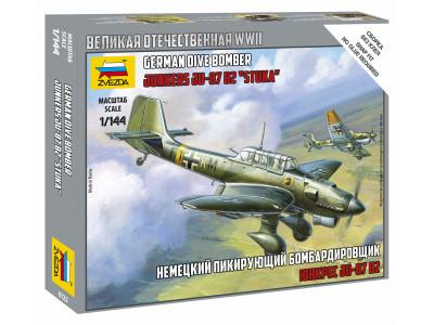 6123 Zvezda 1/144 Немецкий пикирующий бомбардировщик Ju-87 B2