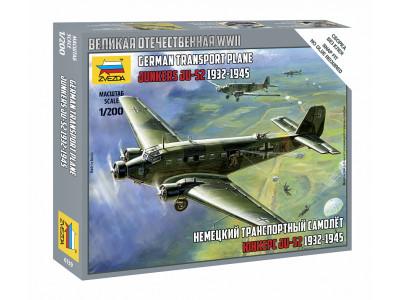 """6139 Zvezda 1/200 Немецкий транспортный самолёт """"Юнкерс"""" Ju-52 1932-1945"""