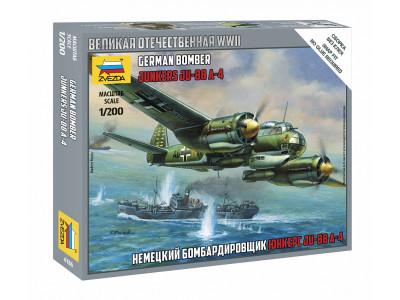 "6186 Zvezda 1/200 Немецкий бомбардировщик ""Юнкерс"" Ju-88A4"